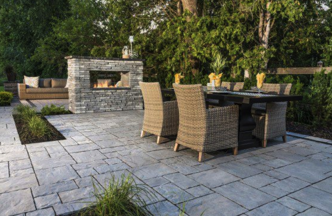 Patio Design Ideas Using Concrete Pavers For Backyard