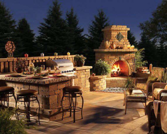 Here Are Some Inspiring Patio Designs That Make Exceptional Use Of Outdoor  Kitchen Lighting So That It Not Only Fulfills Its Functional Purpose, ...