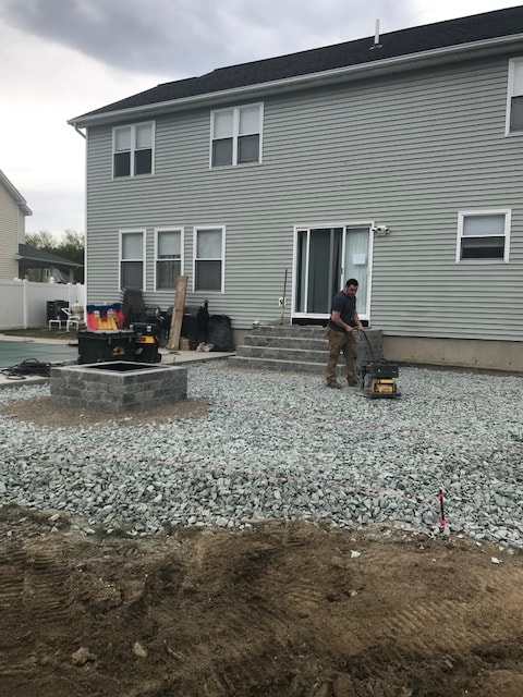 BlackDiamondDesign Landscaping LLC. of Rensselaer County, NY Lay Full Front and Backyard Hardscape Design