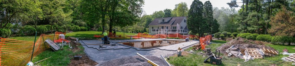 Manzer's Landscape Design and Development, Inc. Lay Beacon Hill Flagstone Pool Deck in Pleasantville, NY