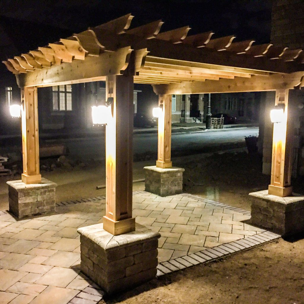 Scenic Stone Landscape & Design Inc. Creates Natural Stone Walkway and Seating Area in Oakville, ON