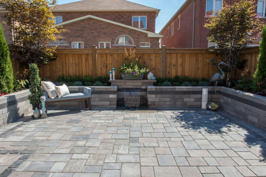McCartney Landscaping Inc. Combine Modern Minimalism and Rich Traditional Textures in Stunning Mississauga, ON, Hardscape Project