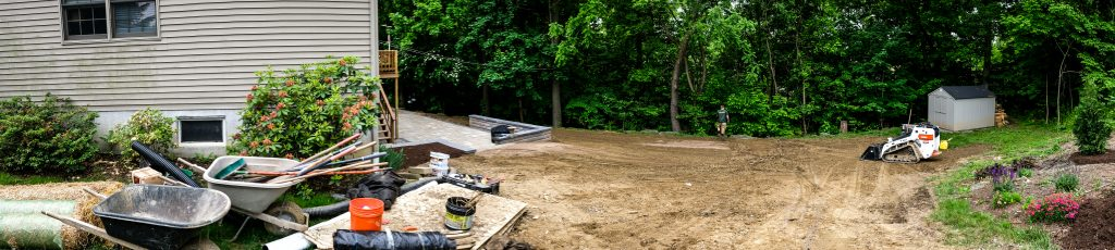 Knutsen Landscaping, Inc. Preps for Backyard Project with Manual Root Removal in Lancaster, PA