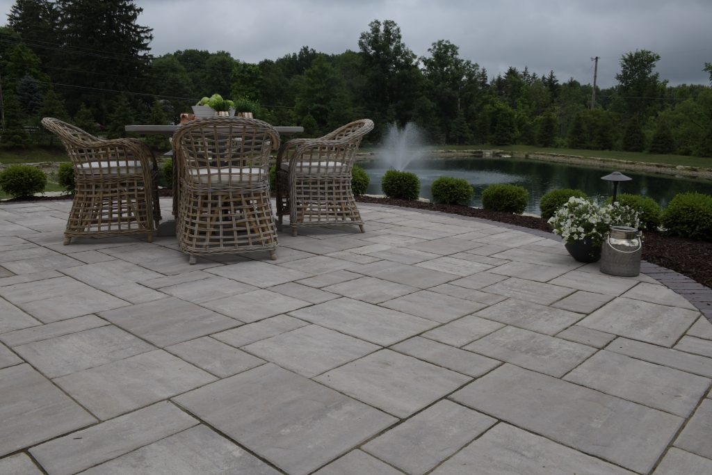 Vizmeg Landscape, Inc. Creates Beautiful Multi-Level Patio with Umbriano Pavers in Boston Heights, OH